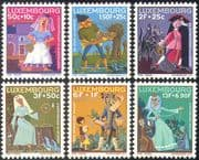 Luxembourg 1966 Fairy Stories/ Folk Tales/ Cat/ Castle/ Weaving/ Cloth Spinning/ Fairies/ Welfare Fund 6v set (n42755)