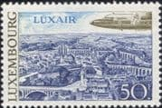 Luxembourg 1968 Planes/ Tourism/ Aviation/ Transport/ Aircraft/ Buildings 1v (lu10164)