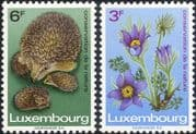 Luxembourg 1970 Hedgehog/ Pasque Flower/ Animals/ Plants/ Nature Conservation Year  2v set (n23808)