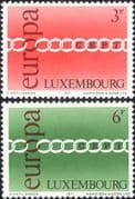 Luxembourg 1971 Europa/ CEPT/ Chain/ Animation 2v set (lu10165)