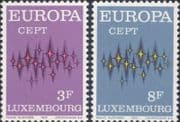 Luxembourg 1972  Europa/ CEPT/ Communications/ Animation  2v set  (ex1110)