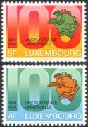 Luxembourg 1974 UPU 100th Anniversary/ Universal Postal Union/ Communication/ Sculpture 2v set (n42471)