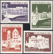 Luxembourg 1975 Architecture Heritage Year/ Buildings/ Castle/ Church/ Market Square/ Bell/ Clock Towers 4v (lu10103)