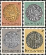 Luxembourg 1980 Coins/ Money/ Currency/ Commerce/ Business/ History 4v set (n43491)