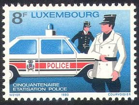Luxembourg 1980 Police/ Cars/ Law/ Order/ Motoring /People/ Transport 1v (n23872)