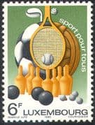 Luxembourg 1980 Sports/ Games/ Basketball/ Football/ Tennis/ Golf/ Bowls 1v (n42449)