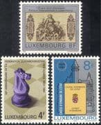 Luxembourg 1981 Chess/ Board Games/ Sports/ Money/ Commerce/ Bank/ Banking 3v set (lu10130)