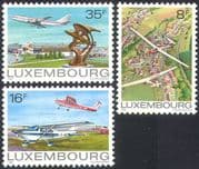 Luxembourg 1981 Planes/ Aircraft/ Aviation/ Transport / Gliders/ Sport 3v set n24745