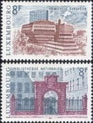 Luxembourg 1981 Tourism/ Library/ Parliament/ Buildings/ Architecture 2v set (lu10119)