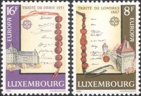 Luxembourg 1982  Europa/ Historical Treaties/ Buildings/ Architecture  2v set  (n46397)