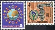 Luxembourg 1982 Scouts/ Scouting/ Youth Hostel Association/ YHA/ Leisure/ People 2v set (n42747)
