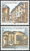 Luxembourg 1982 Tourism/ Buildings/ Architecture/ Museum/ Synagogue/ Religion/ Heritage/ History 2v set (n42475)
