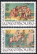 Luxembourg 1983 Europa/ Paintings/ Codex/ Samaritan/ Parables/ Art/ Books/ Horse/ Transport 2v set (n43179)
