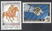 Luxembourg 1983 Horse  /  Space  /  Satellite  /  Communications  /  Post  /  Telecomms 2v (n39829)