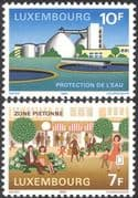 Luxembourg 1984 Environment Protection/ Nature/ Water/ Buildings/ Animation 2v set (n43487)