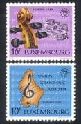 Luxembourg 1985 Europa  /  Music  /  Violin  /  Musical Score  /  Arts  /  Buildings 2v set (n38623)