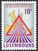 Luxembourg 1986 Road Safety Year/ Motoring/ Map/ Transport/ Roads 1v (n23876)