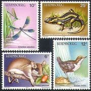 Luxembourg 1987 Birds  /  Dragonfly  /  Insects  /  Lizard  /  Dormouse  /  Animals  /  Nature 4v n34063