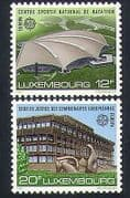 Luxembourg 1987 Europa  /  Buildings  /  Architecture  /  Swimming  /  Justice 2v set (n34070)