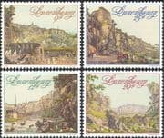 Luxembourg 1990 Art/ Artists/ Fortress/ Soldiers/ Buildings/ Architecture/ Military/ Paintings/ Culture 4v set (lu10104)
