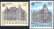 Luxembourg 1990 Europa/ Post Office Buildings/ Architecture/ Mail/ Animation 2v set (n45461)