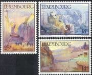 Luxembourg 1990 Sosthene Weis/ Art/ Artists/ Culture/ Paintings/ Buildings /People 3v set (lu10108)