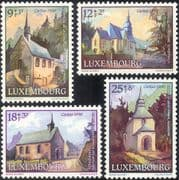 Luxembourg 1990 Welfare Fund/ Chapels/ Churches/ Heritage/ Buildings/ Architecture 4v set (lu10113)
