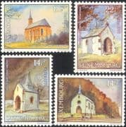 Luxembourg 1991 Welfare Fund/ Chapels/ Churches/ Buildings/ Architecture 4v set (n45667)