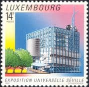Luxembourg 1992  EXPO '92 World's Fair/ Pavilion/ Buildings/ Architecture  2v set (lu10170)