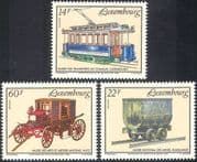 Luxembourg 1993 Electric Tram/ Iron Ore Wagon/ Horse-drawn Carriage/ Mining Truck/ Rail/ Transport 3v set (n26043)