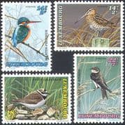 Luxembourg 1993 Welfare Fund/ Kingfisher/ Snipe/ Plover/ Birds/ Nature 4v set (n21181)