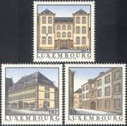 Luxembourg 1994 Former Refuges/ Buildings/ Architecture /Convent/ Abbey/ Animation 3v set (n34069)