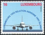 Luxembourg 1995 Plane/ Aviation/ Transport/ Aircraft/ Business/ Commerce 1v (n42422)