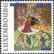 Luxembourg 1996  Christmas/ Greetings/ Nativity/ Art/ Cattle/ Icon 1v (lu10179)