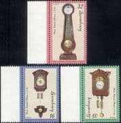 Luxembourg 1997  Antique Clocks/ Time Pieces/ Art/ Craft/ Technology  3v set (lu10176)