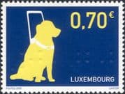 Luxembourg 2005 Guide Dogs/ Blind/ Health/ Welfare/ Disabled/ Braille/ Embossed 1v (lu10150)