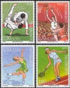 Luxembourg 2005 Sports/ Games/ Basketball/ Judo/ Tennis/ Skating 4v set (n36393)