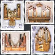 Luxembourg 2007 Welfare Fund/ Organs/ Music/ Musical Instruments 4v set (n42388)