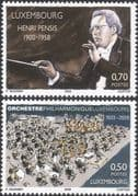 Luxembourg 2008 Henri Pensis/ Composer/ Conductor/ Orchestra/ Music/ People 2v set (lu10115)