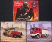 Luxembourg 2009 Fire/ Engines/ Emergency/ Rescue/ Firemen/ Firefighters/ Transport 3v set (lu10154)
