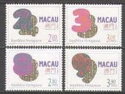 Macau 1996 Lucky Numbers  /  Luck  /  Fortune 4v set (n22819)