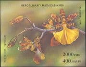 Madagascar 1993  Orchids/ Flowers/ Plants/ Nature imperforate m/s (b5890)