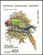 Madagascar/Malagasy 1993 Parrot/ Macaw/ Birds/ Nature/ Wildlife IMPERFORATE (1v) m/s (b5194)