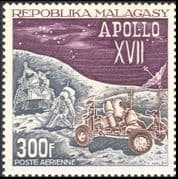 Malagasy 1973 Space/ Apollo 17/ Moon Lander/ Rover/ Astronauts/ Transport 1v (n28497a)