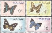 Malawi 1966 Butterflies/ Insects/butterfly/ Conservation 4v set n19432