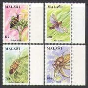 Malawi 1991 Insects  /  Nature  /  Beetles 4v set (n14842)