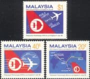 Malaysia 1986 Planes/ Aircraft/ Aviation/ Flight/ Commerce/ Business/ Tourism 3v set (n45297)