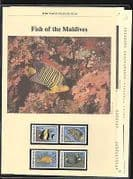 Maldives 1986 Fish  /  WWF 4v + 5pp Info Pack (n20724)