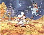 Maldives 1988 Disney/ Space/Moon Walk/ Mickey/ Goofy/ Cartoons/ Animation 1v m/s (b4762k)