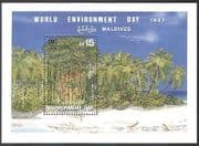 Maldives 1988 Palm Trees  /  Plants  /  Nature  /  Environment  /  Conservation 1v m  /  s (n41073)